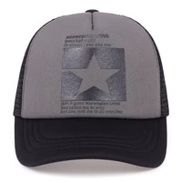 new five pointed star printed baseball cap spring summer breathable net caps men women outdoor sun shade hat adjustable wild hat