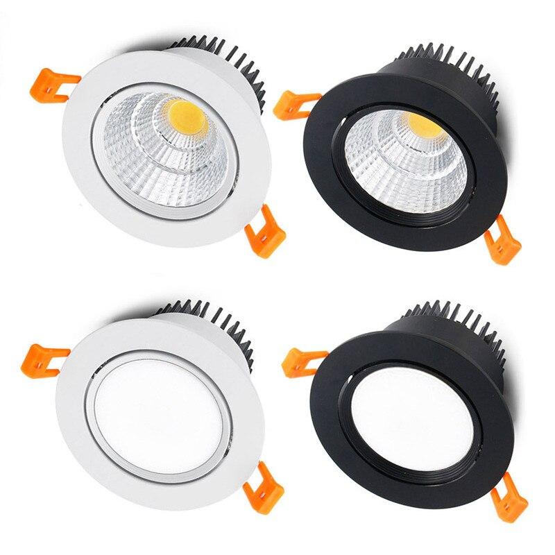 4 tipos redondos pode ser escurecido recessed led downlight 5w7w9w12w15w18w cob conduziu