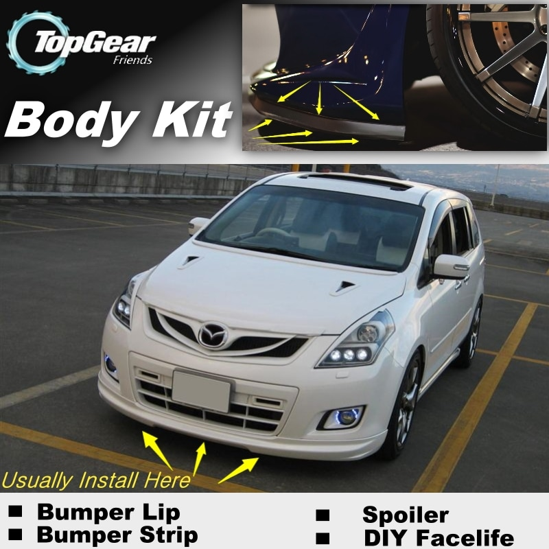 For Mazda 8 For Mazda8 MPV LW LY Bumper Lip / Front Spoiler Deflector For TOPGEAR Friends Car Tuning / Body Kit / Strip Skirt