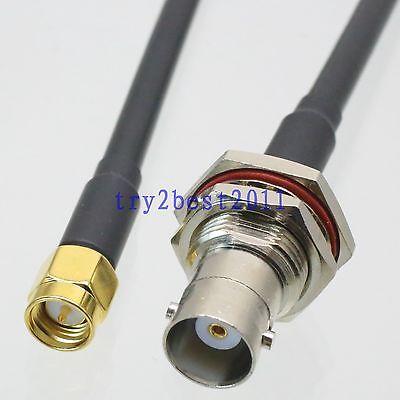 DHL/EMS 20 Sets KSR195 BNC jack pin mamparo a SMA macho pin RF Jumper Cable pigtail de 12 pulgadas -C1