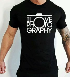 I Love Photography T-Shirt Camera Hipster Streetwear Fashion Men Clothes Top Cotton Short Sleeve Tshirt Men oversized shirt