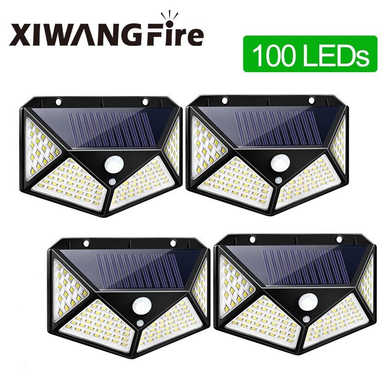 XIWANGFIRE 100 180 LED Motion Sensor Solar Light Waterproof Outdoor Solar Power Supply For Garden Decoration Solar Light