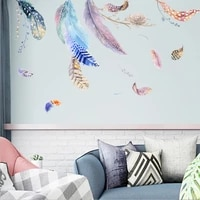 2pcs floating feather nest wall stickers for sofa muralation tv background shop background wall home mural 4560cm
