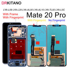Para Huawei Mate20 Pro Mate 20 Pro LCD pantalla táctil digitalizador con marco + sensor de huella digital para Huawei Mate 20 Pro LCD