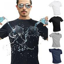 Anti Schmutzig Wasserdicht herren Sport T-shirt Atmungsaktiv NANO Schnell Trocknend Shirt Top