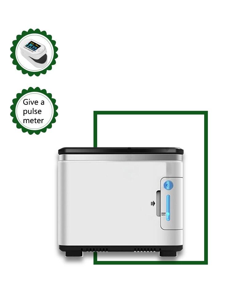 مولد أكسجين منزلي صغير بشاشة تعمل باللمس 1 لتر-7 لتر ، آلة أكسجين صوتية ، تركيز عالي 93% ، مستنشقات أكسجين مزدوجة