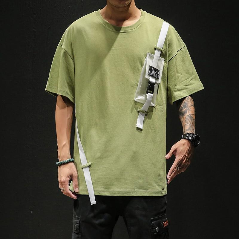 Summer Short Sleeves Harajuku Korea Fashion White T-shirt Streetwear One Piece Hip Hop Rock Punk Men Top Tees Tshirt Clothes