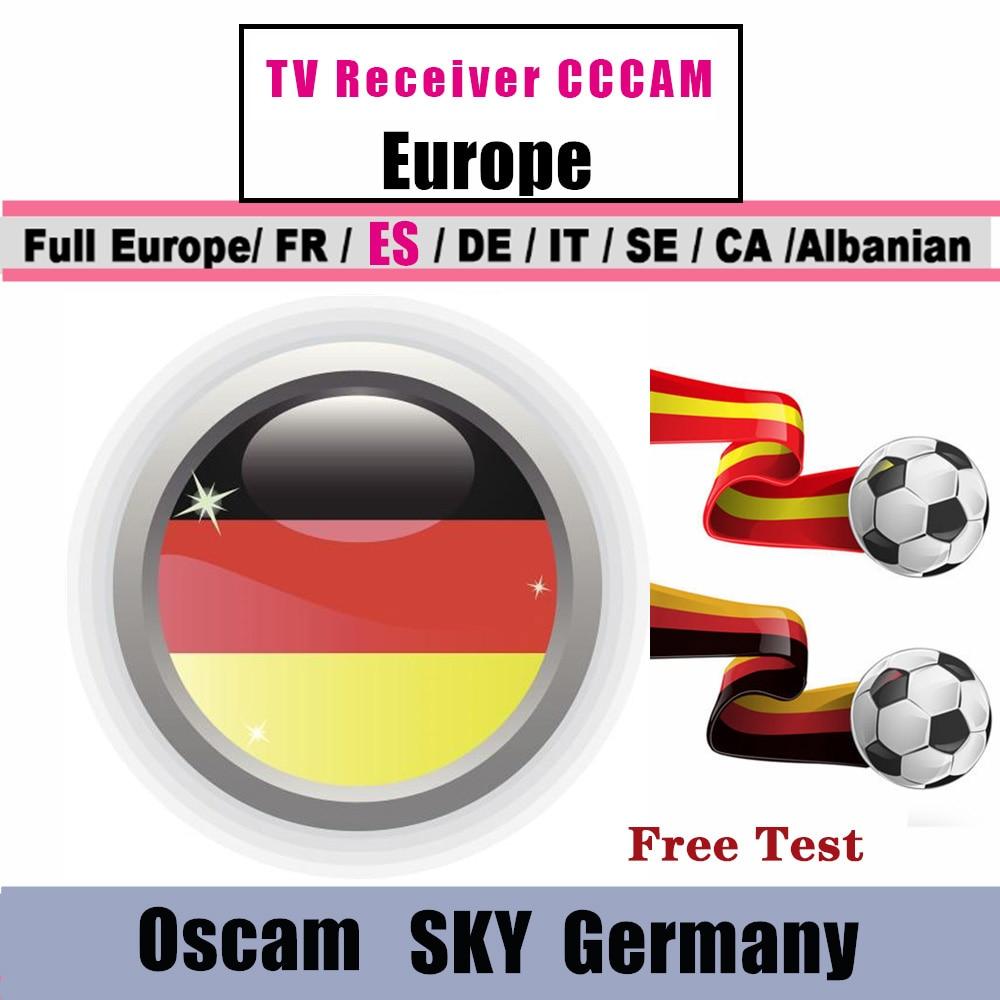 Лучшая Германия Oscam Cline для Европы Испания Польша Австрия Великобритания Astra спутниковый ТВ приемник CCCAM 6/7 линий Freesat V7 CCCam