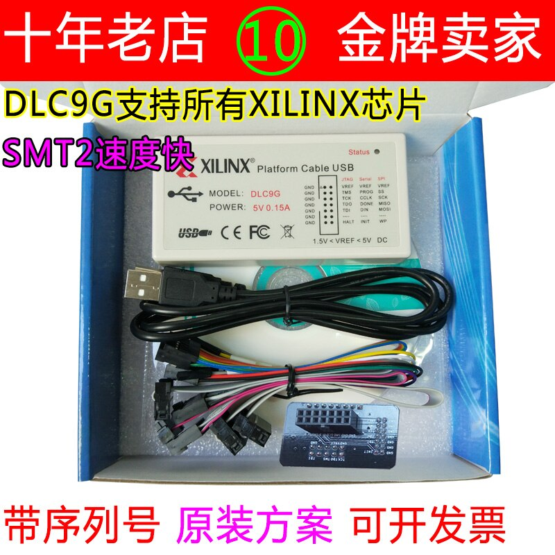 Cable de plataforma de línea de descarga Xilinx cargador USB Xilinx DLC9G SMT2