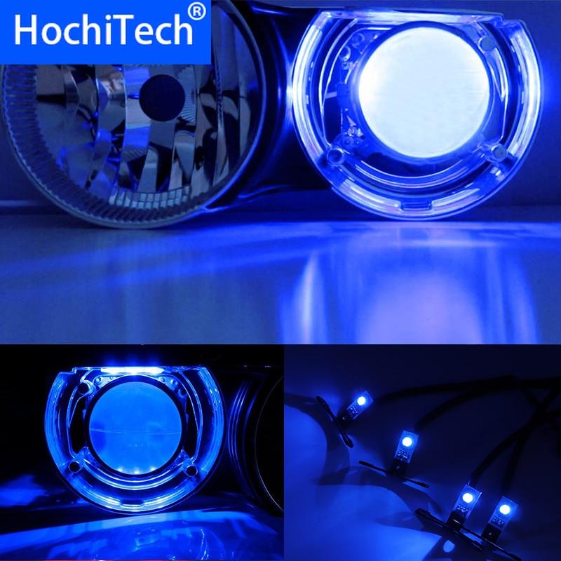 Wireless Control RGB LED Demon Eyes light Kit For Peugeot 108 208 301 308 408 508 2008 3008 5008 HID Projector Lights Lens