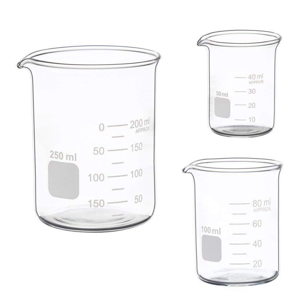 Горячая Распродажа Стекло измерительный низкий стакан набор 50 мл 100 мл 250 мл Стекло стакан Pyrex лабораторный стакан мерный стакан