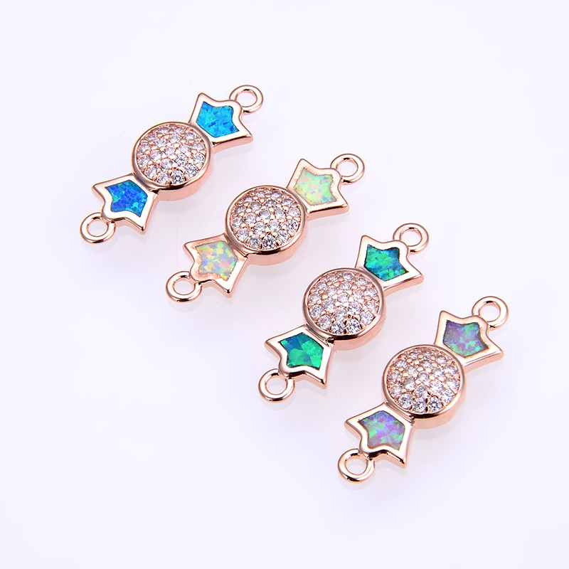 4 Uds./lazo encantador 22*7*3,0mm syntheticopal adecuado pulsera de piedra natural accesorios pendientes collar DIY regalo joven