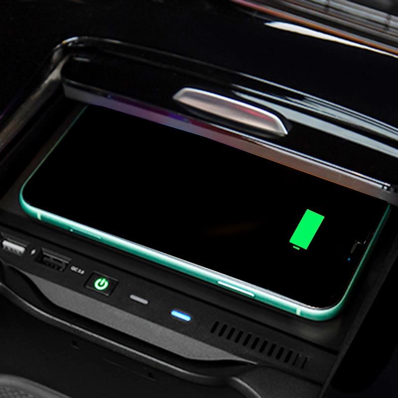 10w carro qi carregador de telefone carregamento sem fio para mercedes benz w177 w246 w247 a180 amg a35l glb a classe b 2019 2020 acessórios