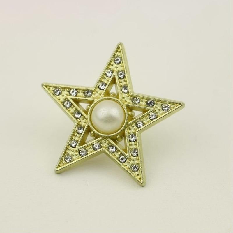 10pcs Luggage Hardware Decorative Accessories Rhinestone Pentagram Pearl Pattern DIY Bag Clothing Sh