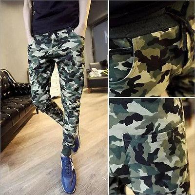 Venta caliente pantalones militares de hombre moda Casual Cool hombres camuflaje Joggers Slim Harem holgado pantalones de hombre militar Plus tamaño
