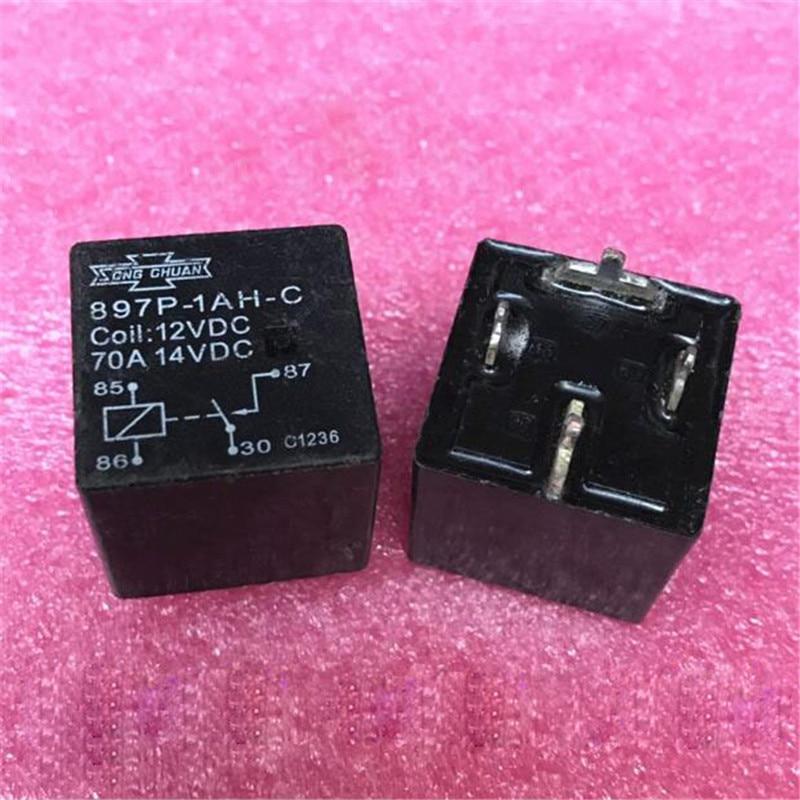 12V 12V relé de 897P-1AH-C 897P1AHC 897P 1AH C 12VDC DC12V 70A 4PIN