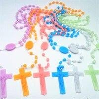 new christian catholic cross virgin holy christ pendant necklace for men women rosary necklace prayer beaded jewelry