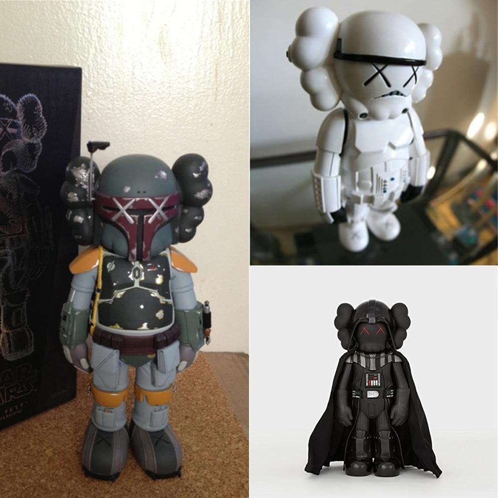 Crianças collectible modelo boneca brinquedos 25cm bonito boneca imperial storm trooper/darth vaders samurai preto anime figura brinquedos de escritório