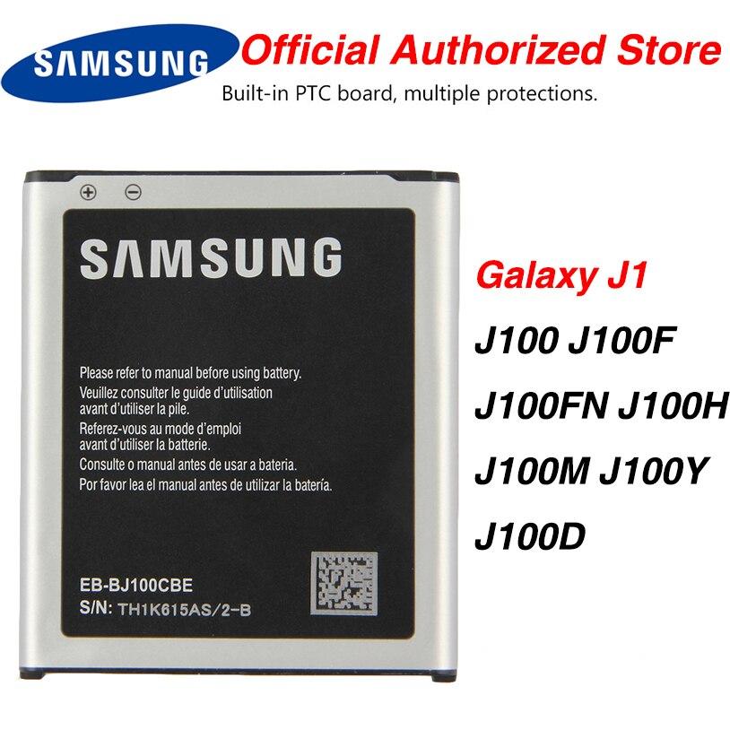 Batterie dorigine Samsung EB-BJ100BBE pour Samsung Galaxy J1 j100 J100F /D J100H J100FN J100M EB-BJ100CBE NFC 1850mAh