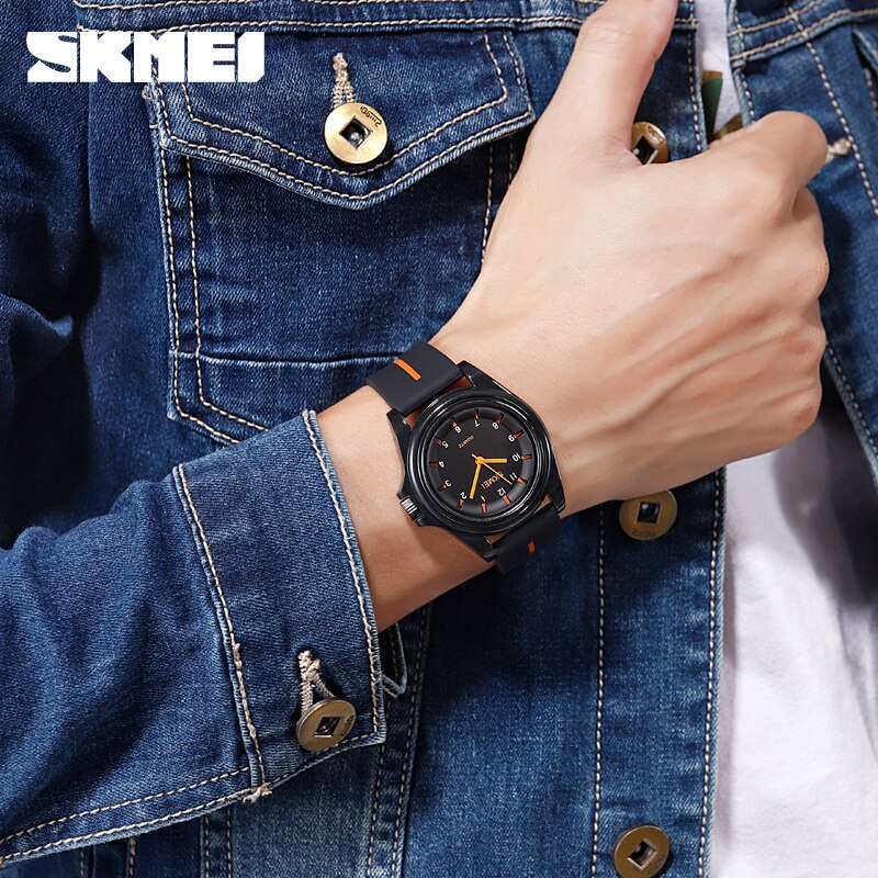 SKMEI Fashion Men Women Watches Quartz Wristwatches 3Bar Waterproof Personality Colorful Silica Gel Band Relogio Feminino Hintre enlarge