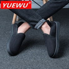 YUEWU Winter Women'S Low Top Cotton Padded Shoes Couple Warm Shoes Short Plush Lining And Cow Sued
