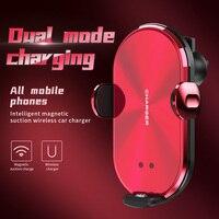Автомобильный мобильный телефон держатель Универсальный Беспроводной Магнитная Зарядка интеллигентая (ый) срабатывание на инфракрасное и...