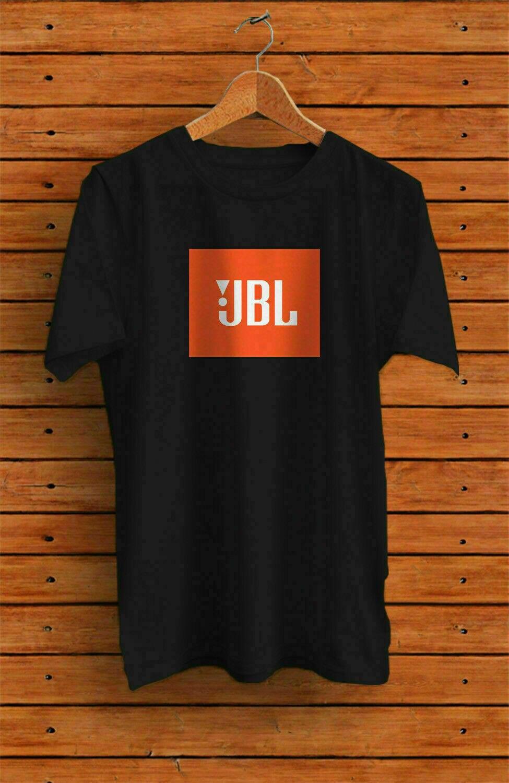 Jbl alto-falante logotipo preto harman kardo t camisa 2xl