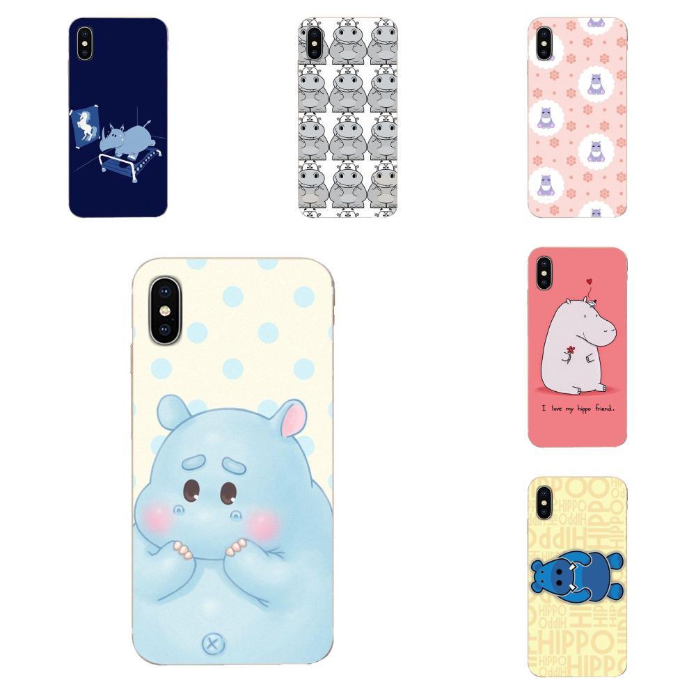 Para Samsung Galaxy A51 A71 A81 A90 5G A91 A01 S11 S11E S20 Plus Ultra TPU imprimir cubierta caso hipopótamo lindo
