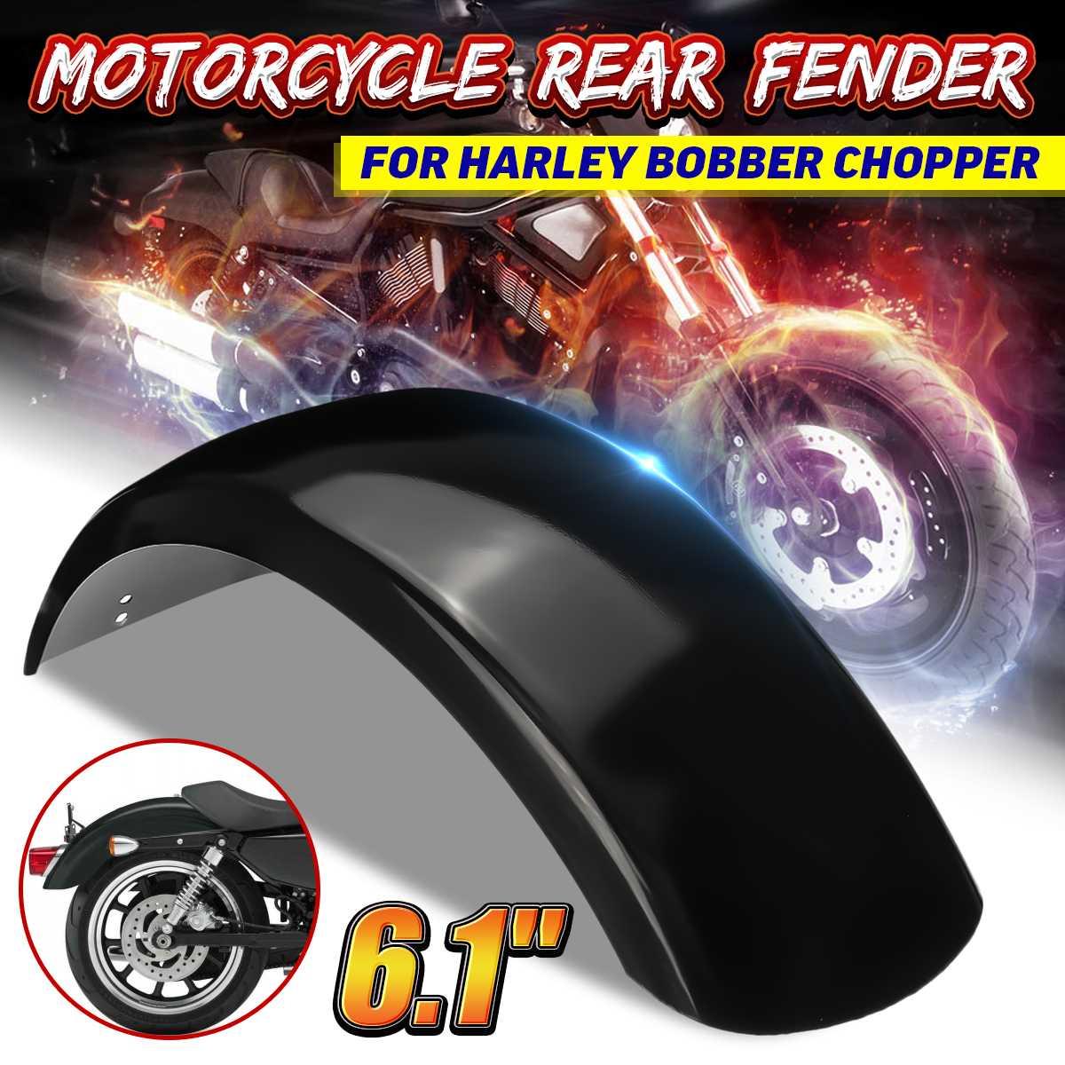 Protector de guardabarros trasero para motocicleta de 6,1 pulgadas, guardabarros de acero inoxidable para Harley Bobber Chopper