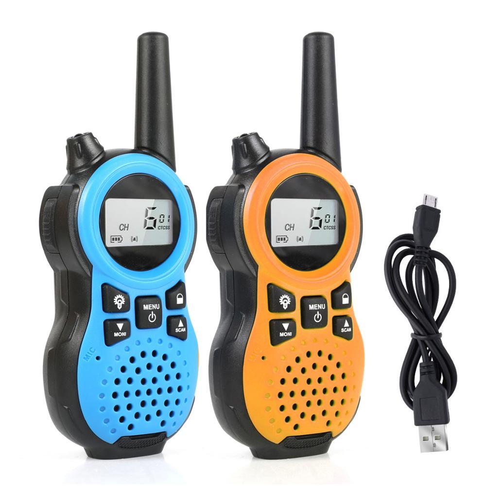 2Pcs Children's Walkie Talkie RD866  Kids Walkie Talkie for Mini children's outdoor self driving walkie talkie
