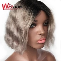 short grey wigs natural wave brazilian human hair wig ombre t1b 30 99j p1b 30 bug lace part wigs water wave wig with hair line
