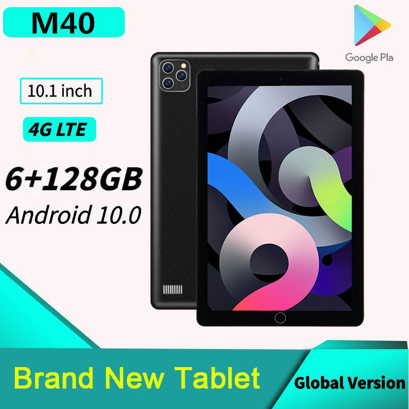 Global Version 10 Inch M40 Tablet  6GB RAM 128GB  ROM Tablets Android 10.0 Tablete 4G LTE Phonecall