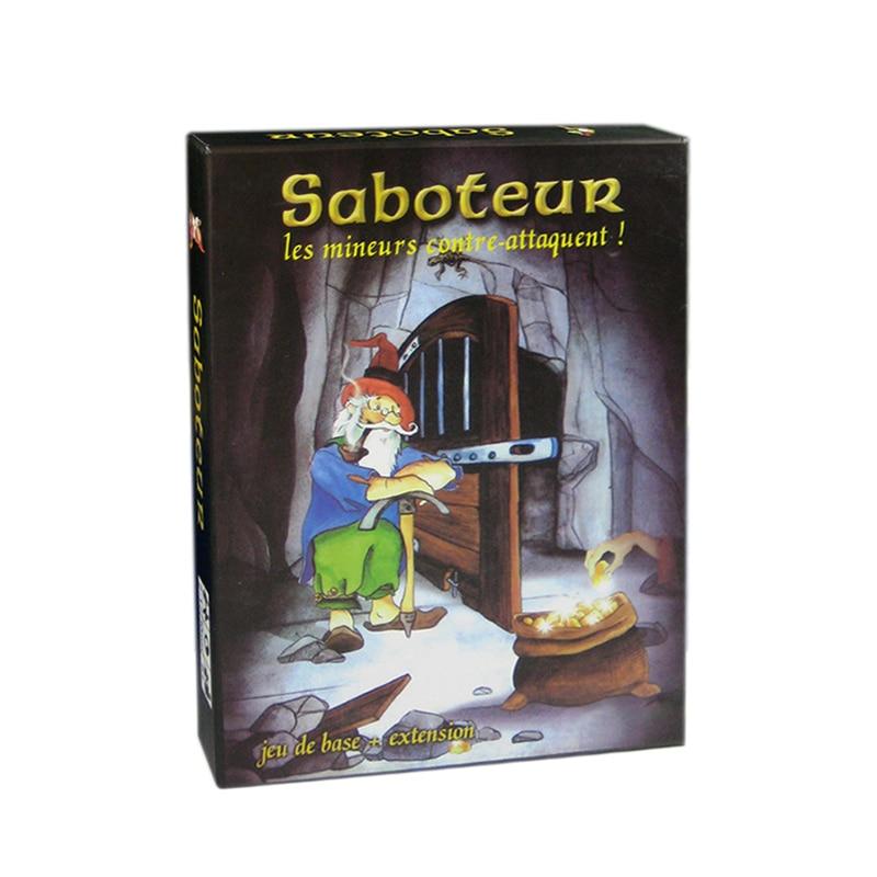 Варианты Майнер Игра настольная игра Saboteur 1 2 3 Дуэль для 2 игроков карточная игра Семья вечерние вывеска indoor Board игра