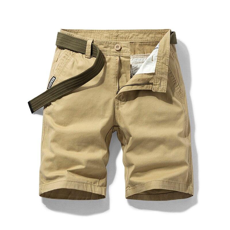 Шорты-карго мужские из чистого хлопка, красивые пляжные тактические, прямые свободные рабочие повседневные короткие штаны, большие размеры... красивые прямые диваны