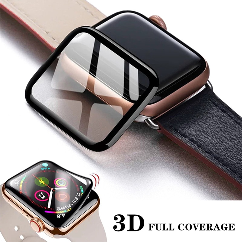 3D Waterproof Full Screen Protector For Apple Watch 6 SE 5 4 40mm 44mm Not Tempered Soft glass For i