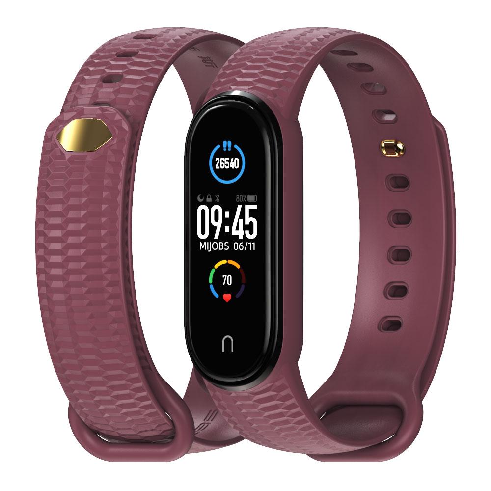 For Mi Band 5 6 Strap Bracelet Miband 5 Opaska Wristband for Xiaomi Correa Smart Band 4 Pulseira Silicone Pasek Mi 5 Band