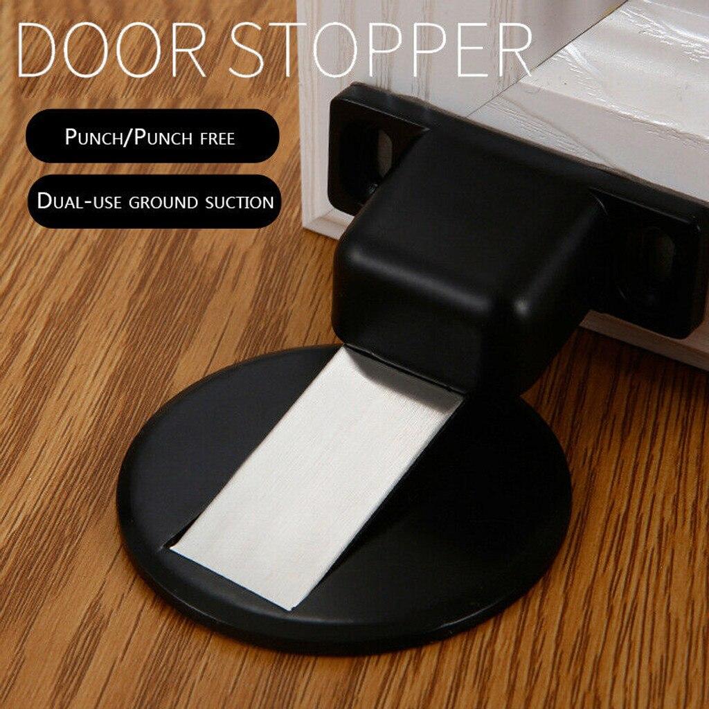 Porta magnética parar liga de zinco porta rolha escondida porta titular catchfloor prego-livre invisível anti-colisão sucção doorstop #38