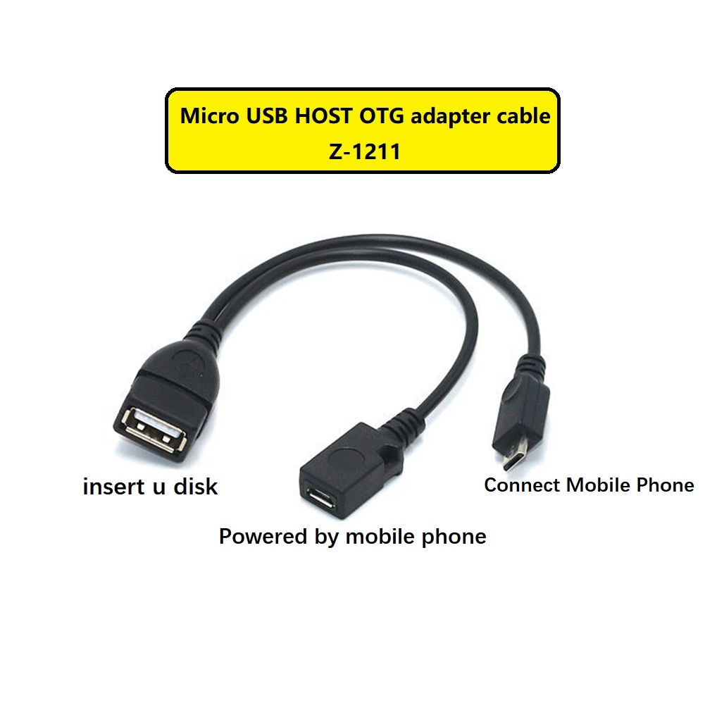 Etmakit 2 In 1 OTG Adapter Micro USB Host Power Y Splitter USB to micro 5 Pin Male Female Cable For Android Phone Accessories
