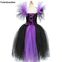 Maléfique mal reine filles Halloween Tutu robe enfants Cosplay sorcière Costume fantaisie enfants fille fête danniversaire robe de princesse