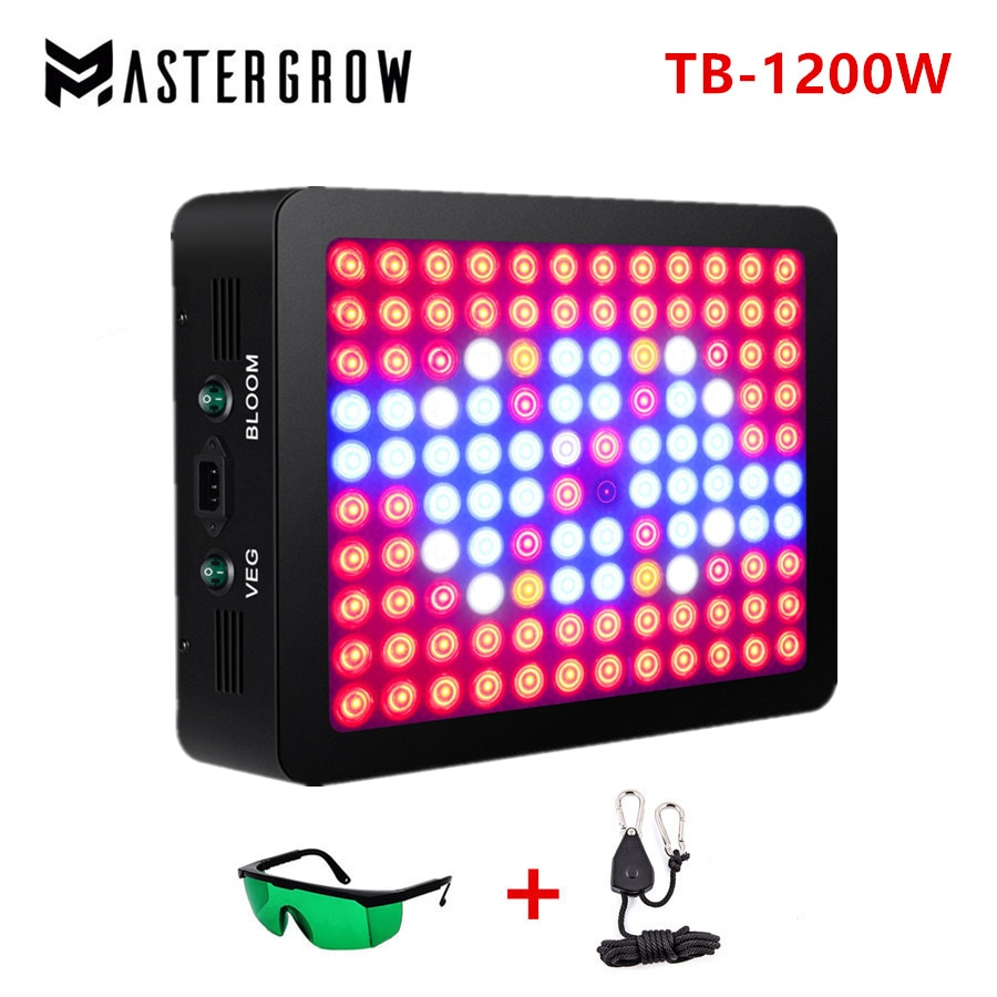 Double Switch TB-1200W Full Spectrum LED grow light with Veg/Bloom modes for Indoor Greenhouse grow tent plants grow led