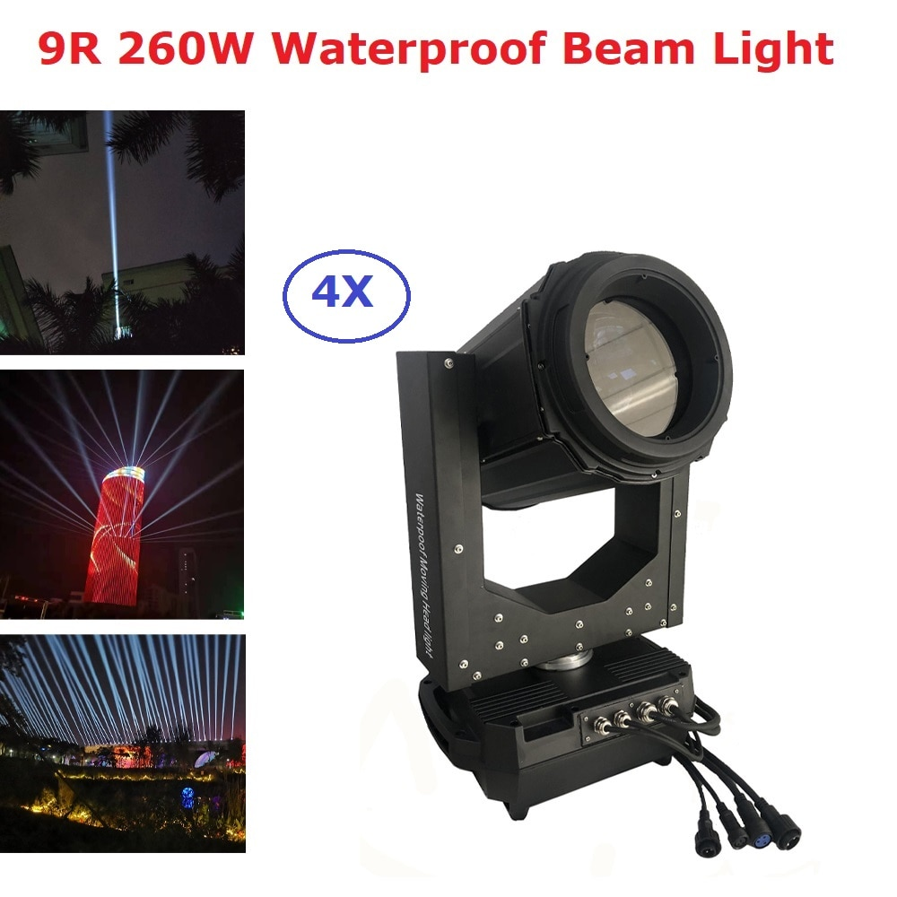 Haz de luz móvil impermeable IP65 haz de luz 9R haz de luz 260W Luz de cielo al aire libre cabeza móvil para fiesta Disco al aire libre, luz de la etapa