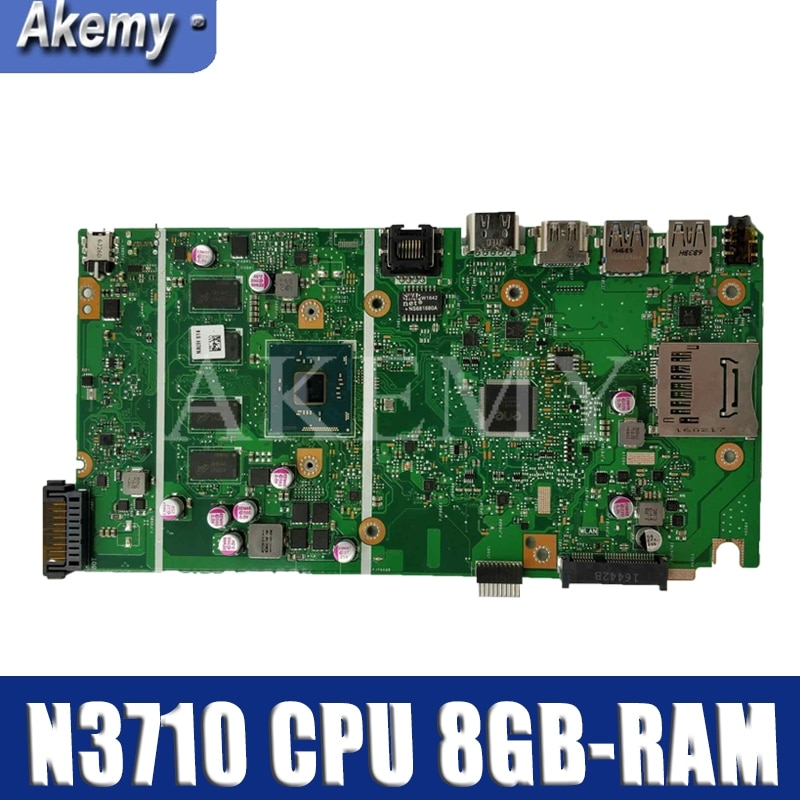 NEW X541SA mainboard REV 2.0 Para For Asus X541 X541S X541SA ok Prueba madre del ordenador portátil N3710 CPU + 8 GB-RAM