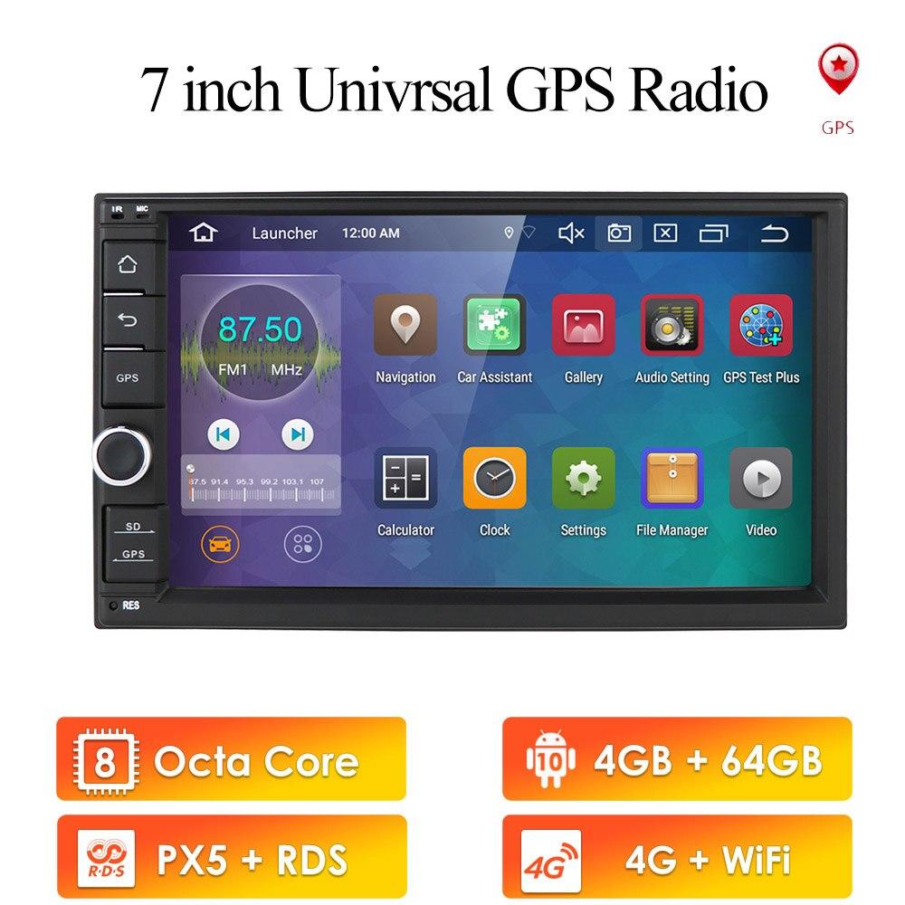 أندرويد 10 ثماني النواة العالمي 4G رام 64G روم مزدوج 2 الدين سيارة غير مشغل ديفيدي مشغل وسائط متعددة مع مرآة لينك داب +