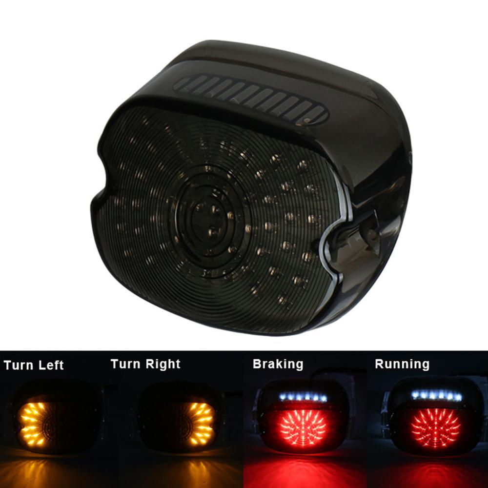 1x LED frein arrière arrêt clignotant arrière témoin lumineux lampe feu arrière pour Harley Softail Dyna Sportster LED feu arrière