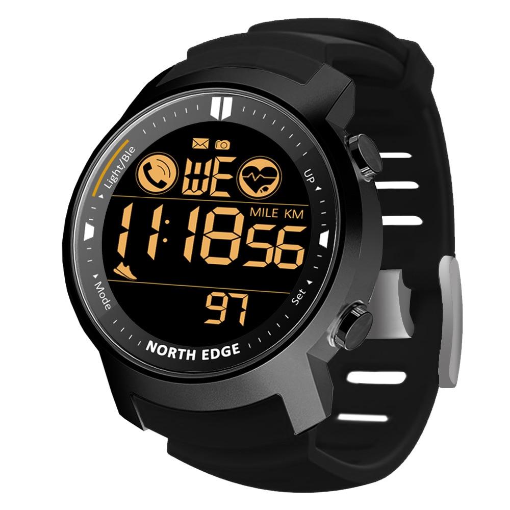 Men's outdoor sports intelligence metal heart rate watches waterproof watch swimming bluetooth watch calories tactics enlarge