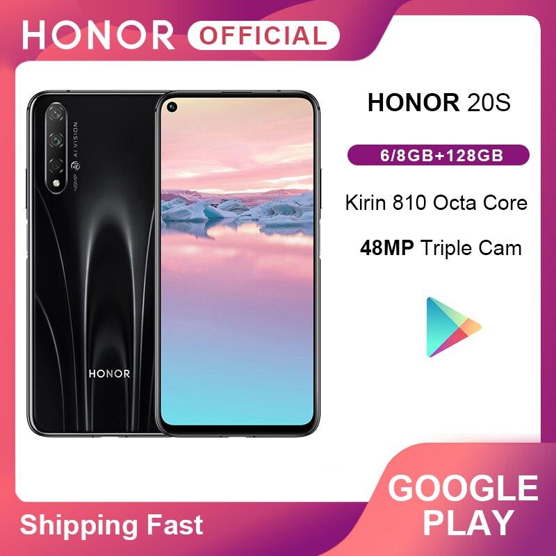 "Original Honor 20 S 20 S Kirin 810 Octa Core Smartphone 48MP trasero 32MP cámara frontal 6,26 ""2340x1080 FHD + del teléfono móvil 3750mAh"
