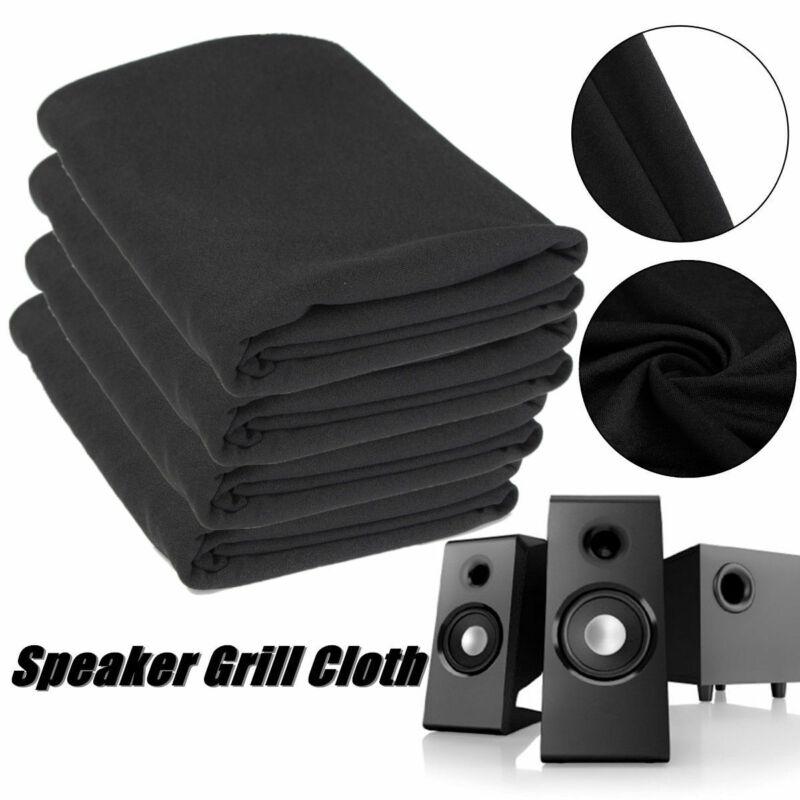Altavoz de buena calidad con Radio de 1,4 m x 0,5 m, paño para parrilla, altavoz de tela protectora estéreo negro, paño de malla grueso para el hogar