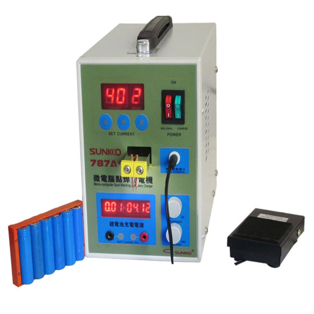 LED Pulse Battery Spot Welder Applicable Notebook Phone Battery Precision Welding Machine with Pedal POWER 787A+