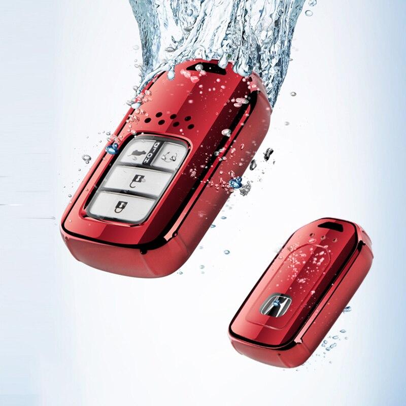 TPU Car Remote Key Full Cover Case Keychain For Honda Accord Civic CR-V XR-V MK10 Spirior Pilot Fit City Freed Jade Key Protect