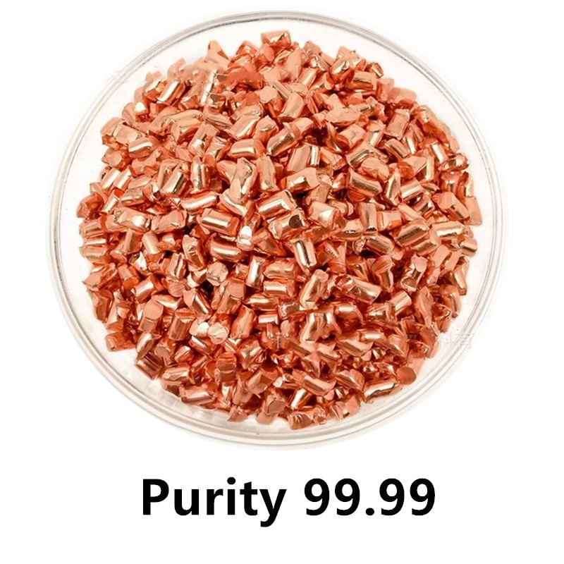 Pure Copper Grain High Purity Cu  4N for Collection Metal Particles Simple Element Crafts 10g 99 9% vanadium metal in glas ampoule under argon pure element 23 sample